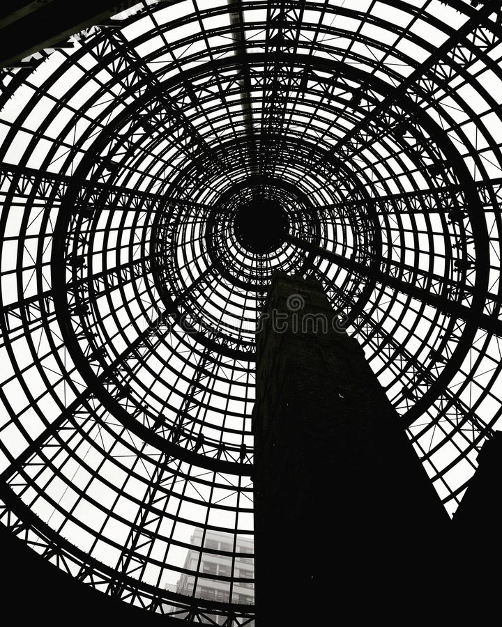 Melbourne central station black-and-white background image stock photos