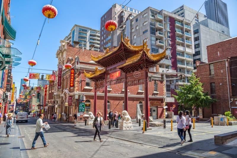 Melbourne Chinatown stockfotos