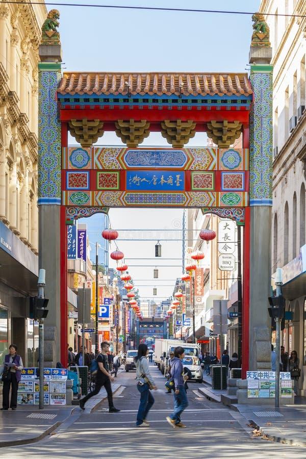 Melbourne Chinatown stockfoto