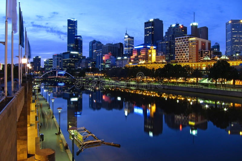 Download Melbourne City stock image. Image of city, evening, scape - 16759551