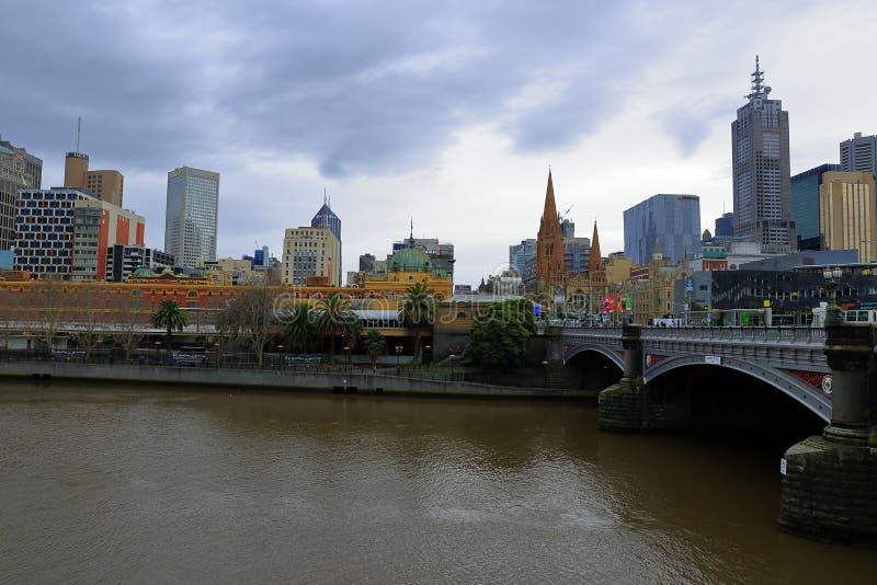 Melbourne city, Australia stock image