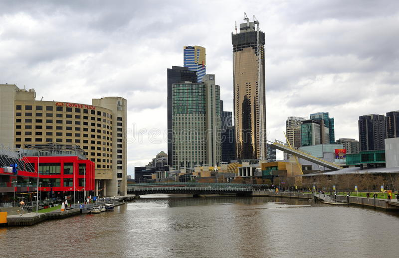 Melbourne city, Australia stock photography