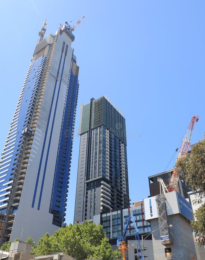 Melbourne city construction development royalty free stock photography