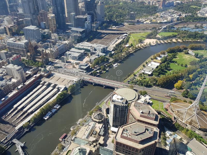 Melbourne city royalty free stock images