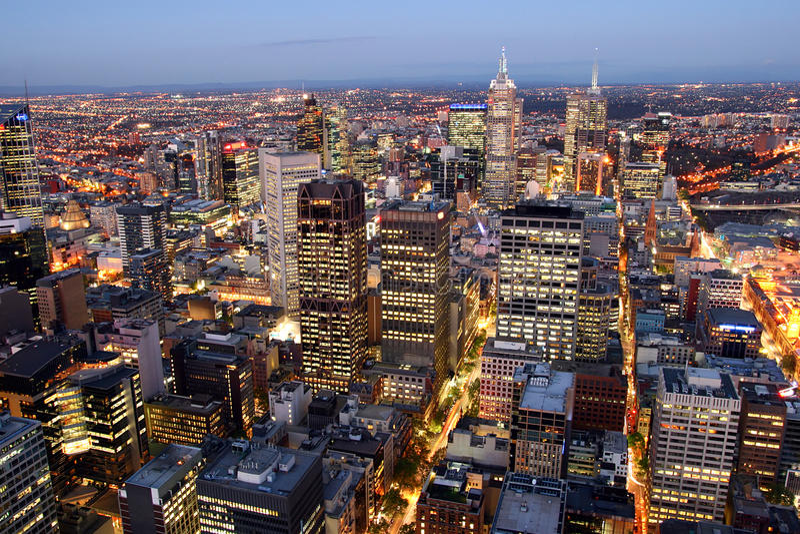 Melbourne Cityscape stock photography
