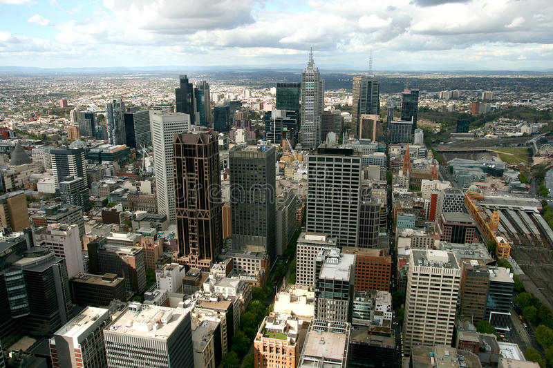 Download Melbourne Cityscape stock photo. Image of view, building - 14443838