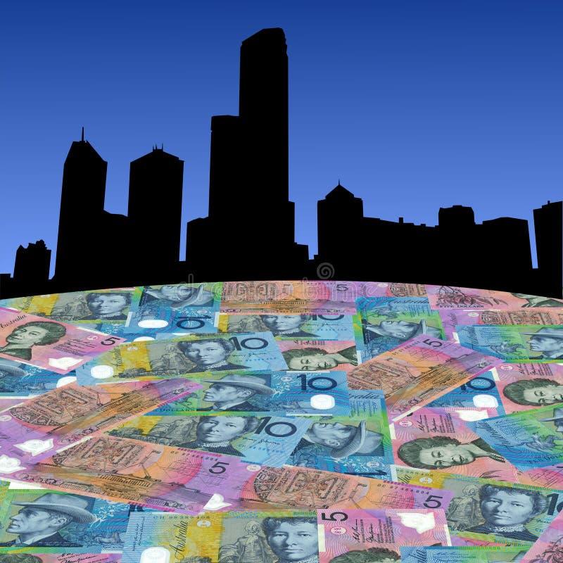 Melbourne con i dollari australiani illustrazione di stock