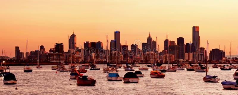Melbourne Dawn stock afbeelding