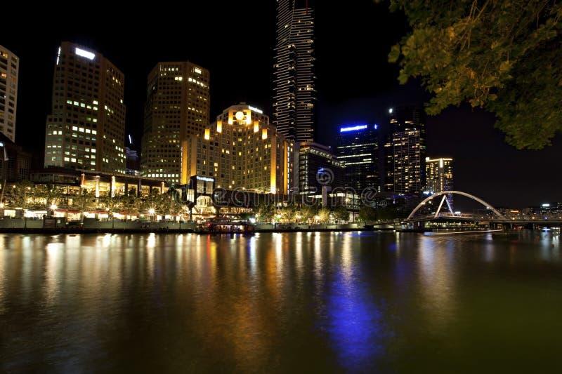 Melbourne de Night foto de archivo