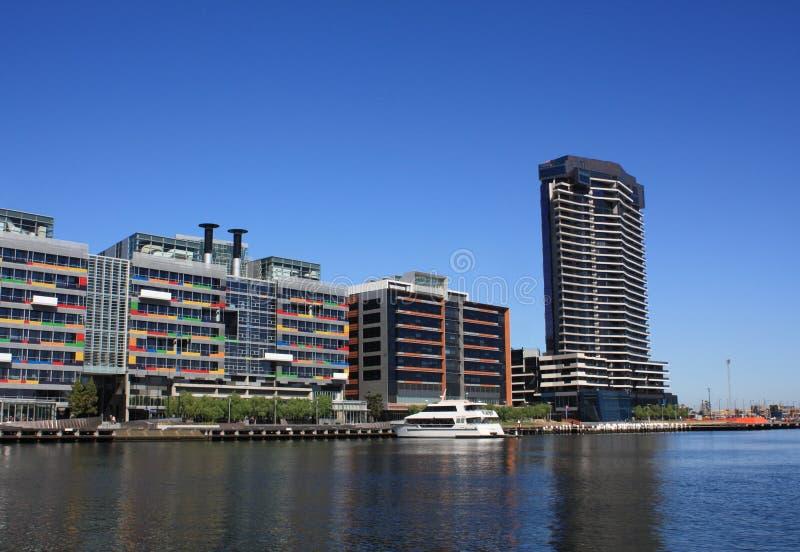 Melbourne, Docklands stockfotografie