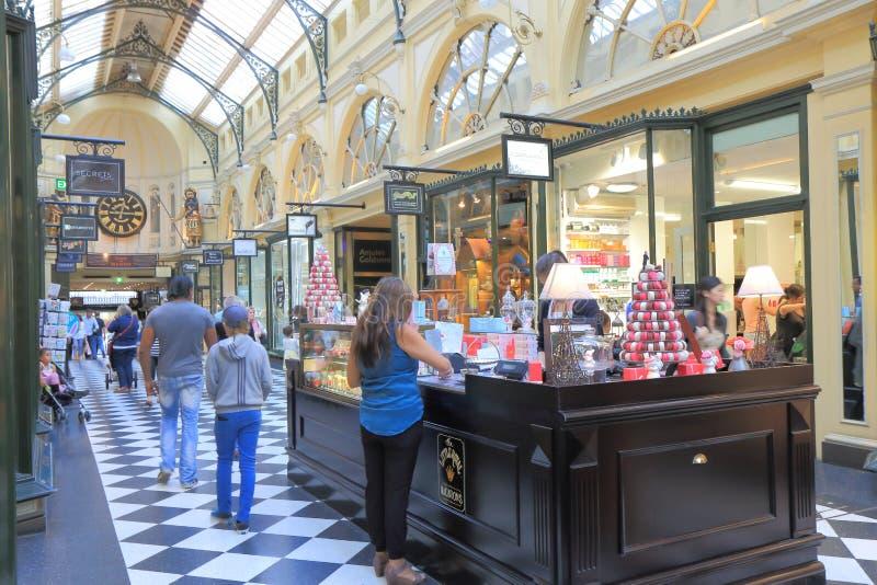 Melbourne-Einkaufssäulengang lizenzfreie stockbilder