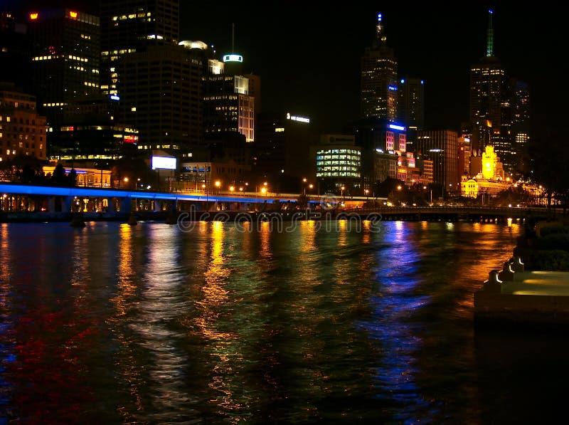 Melbourne entro Night fotografia stock