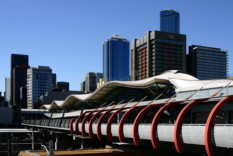 Melbourne - estação da cruz do sul imagem de stock royalty free
