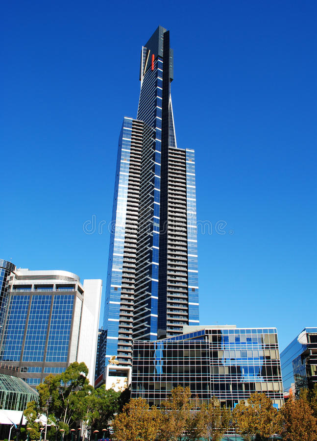 Melbourne Eureka Tower. Eureka Tower in Melbourne's Southbank area royalty free stock photos