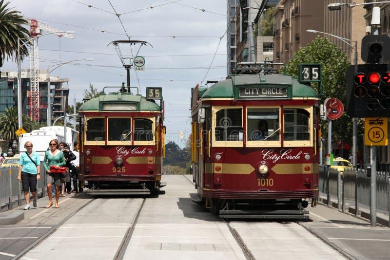 Melbourne-Förderwagen stockbild