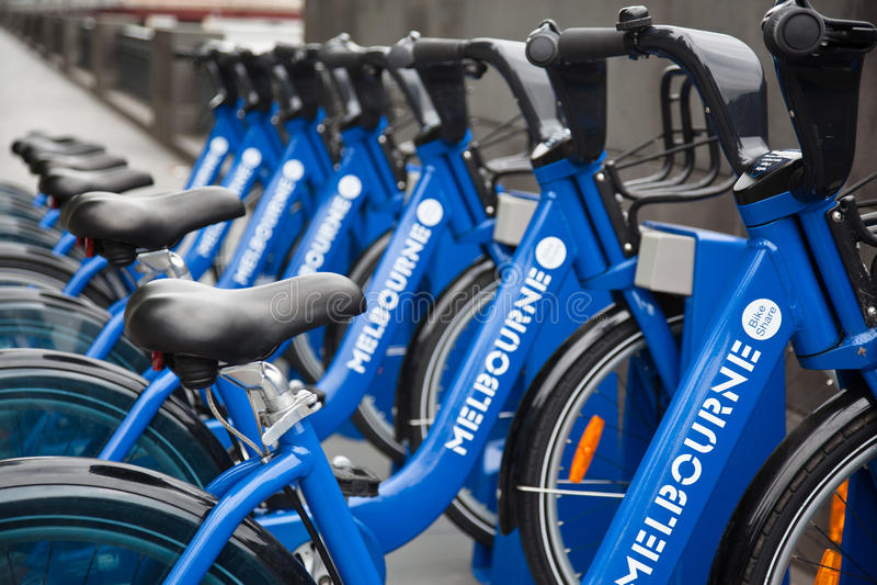 Melbourne-Fahrrad-Anteil stockfotografie