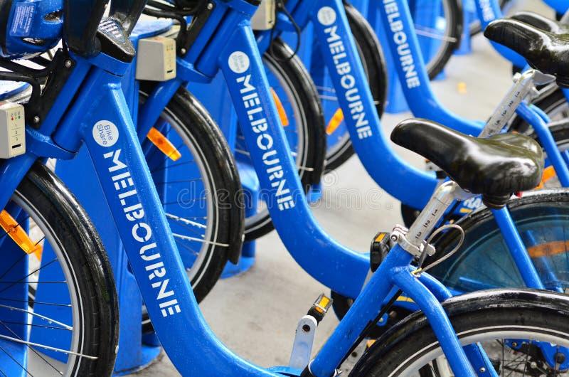 Melbourne-Fahrrad-Anteil stockbild