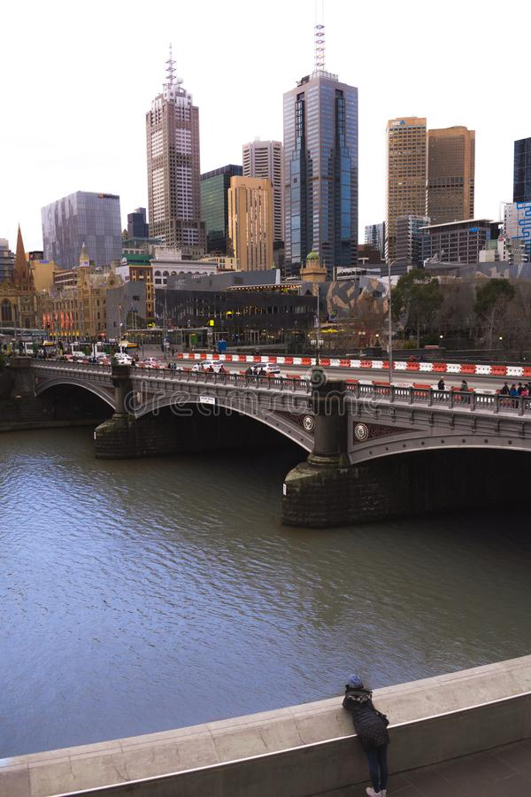 Melbourne Girl stock photo