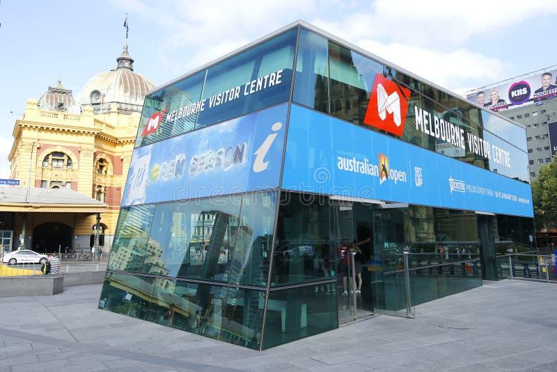 Melbourne gościa Centre przy federacja kwadratem obrazy stock