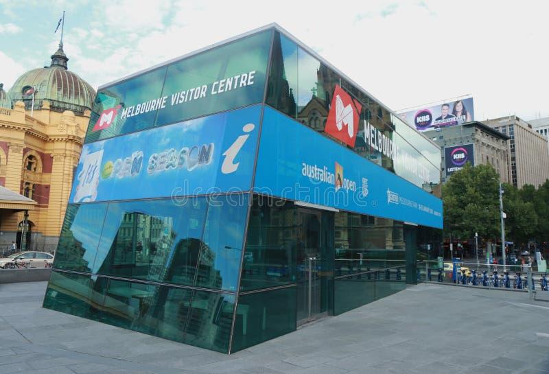 Melbourne gościa Centre przy federacja kwadratem zdjęcia stock