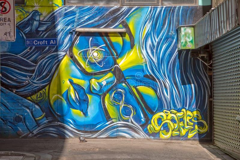 Melbourne-Graffiti lizenzfreies stockfoto