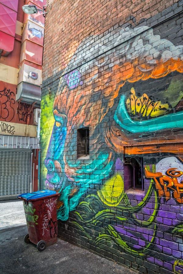 Melbourne-Graffitiaffeecke lizenzfreie stockfotografie