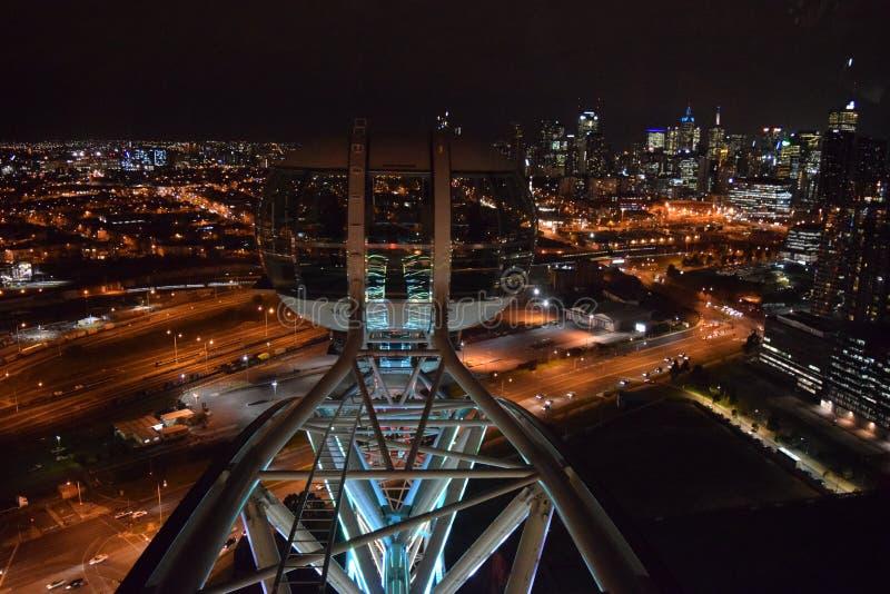 Melbourne gwiazdy obserwaci koło przy nocą obraz royalty free