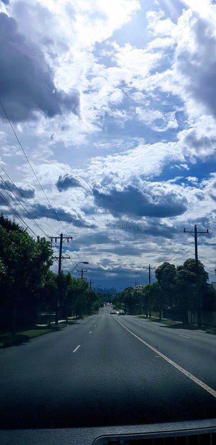 Melbourne himmel royaltyfri foto