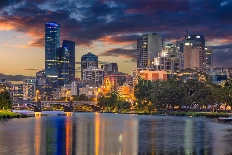 Melbourne miasta obraz royalty free