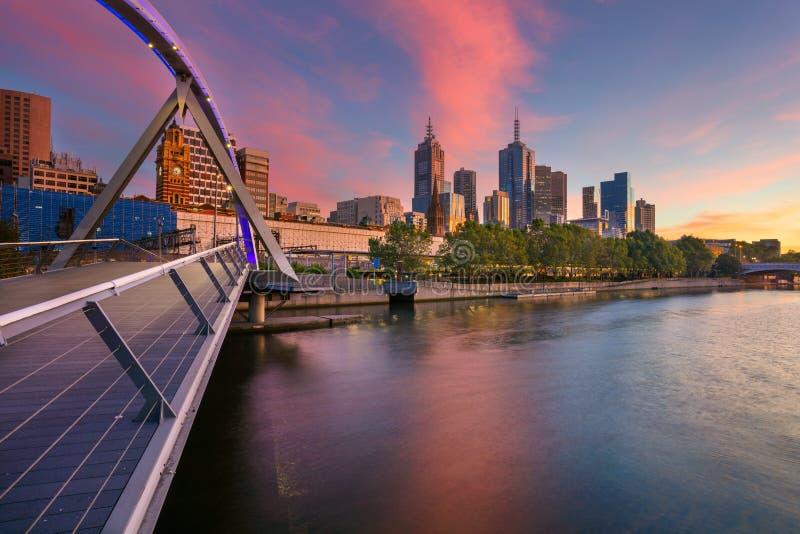 Melbourne miasta zdjęcie royalty free