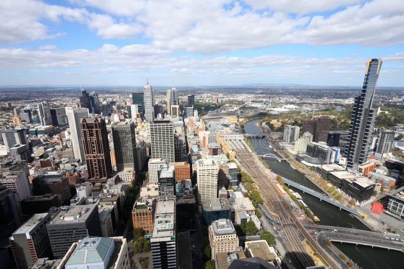 Melbourne - moderne Stadt stockbild
