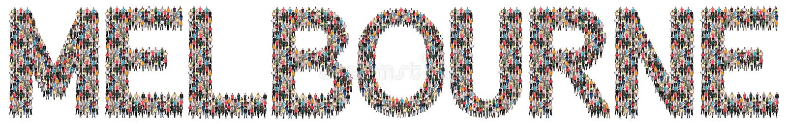 Melbourne multi ethnic group of people royalty free stock photos