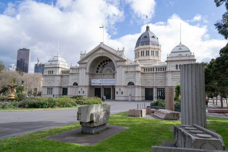 Melbourne-Museum gelegen in Carlton Gardens stockbilder