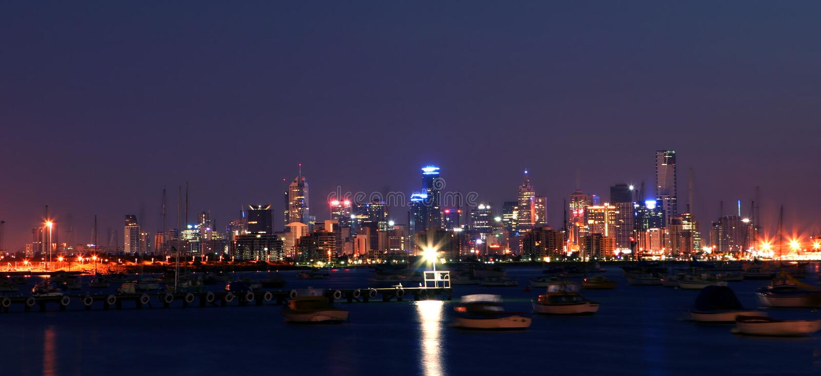 Download Melbourne by Night stock image. Image of marina, australia - 2448491