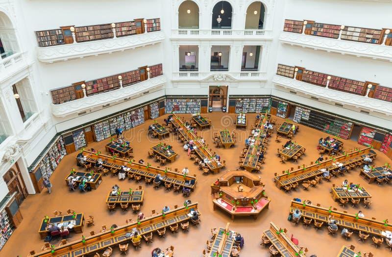 MELBOURNE - 9 OCTOBRE 2015 : Intérieur de la salle de lecture o de Trobe de La images stock