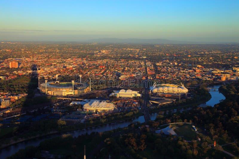Melbourne Park - Sports Arenas. World famous sports arenas in the Melbourne Park royalty free stock photography