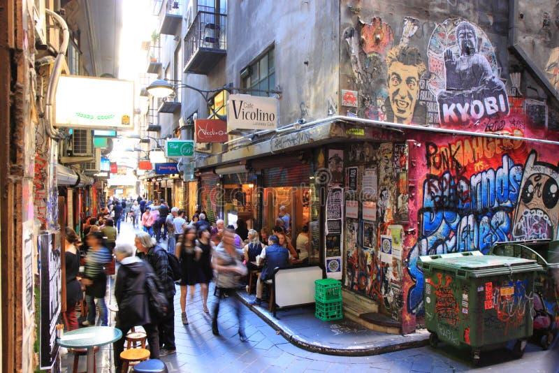 Melbourne Pasa Ruchu Kultura Obraz Stock Editorial