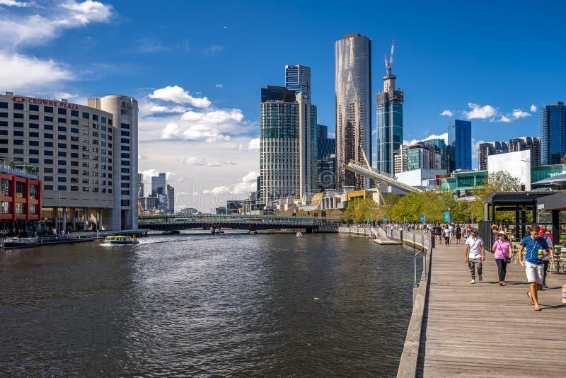 Melbourne, recinto de Australia - de Southbank imagen de archivo libre de regalías