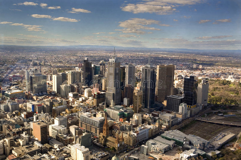 Melbourne's CBD. Central Business District of the city of Melbourne royalty free stock photos