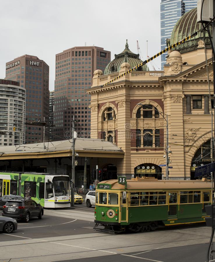 Melbourne ` s Staples w Jeden strzale obrazy royalty free