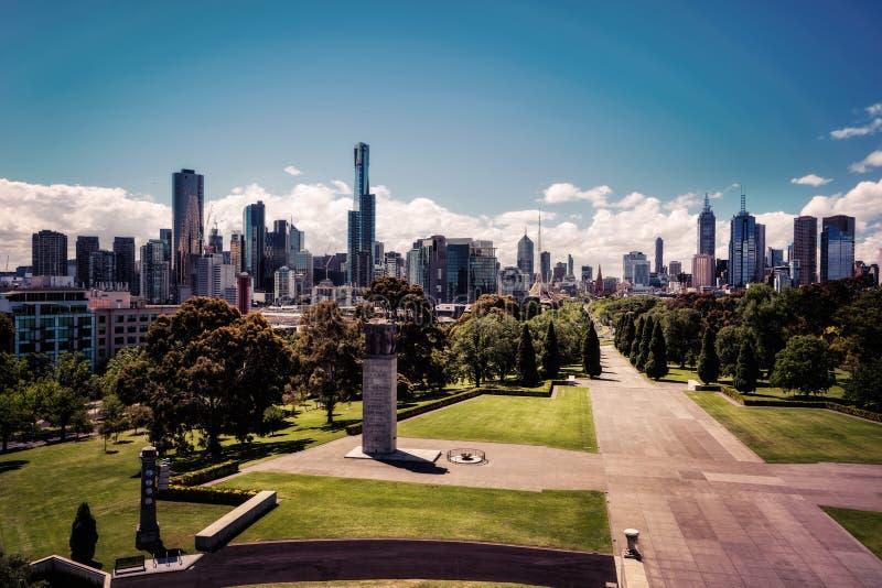 Melbourne-Schrein der Erinnerung stockbild