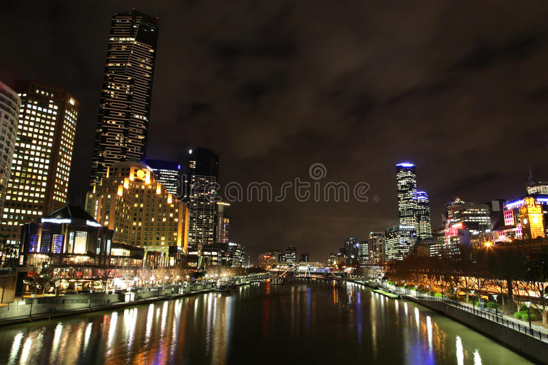 Melbourne skyline stock image