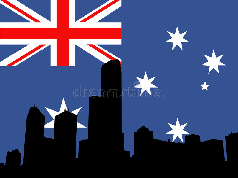 Download Melbourne skyline stock vector. Image of cross, union - 2099355
