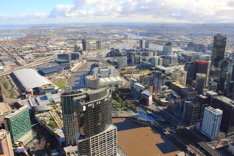 Download Melbourne skyline stock photo. Image of business, buildings - 26473398