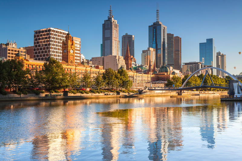Download Melbourne Skyline stock image. Image of city, melbourne - 27671041