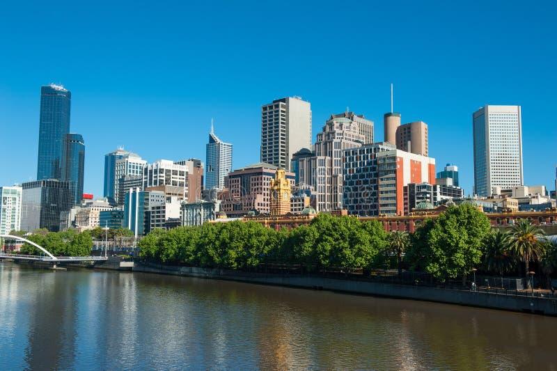 Melbourne-Skyline lizenzfreie stockfotos