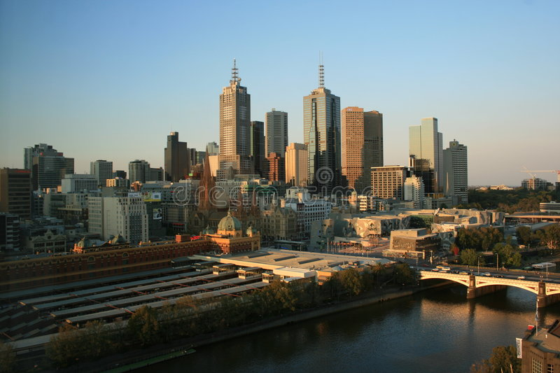 Download Melbourne Skyline stock photo. Image of aussi, skyscrapers - 8279762