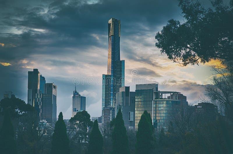 Melbourne Skyline Free Public Domain Cc0 Image
