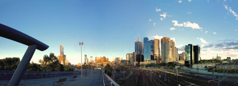 Melbourne-Sommermorgen stockfoto