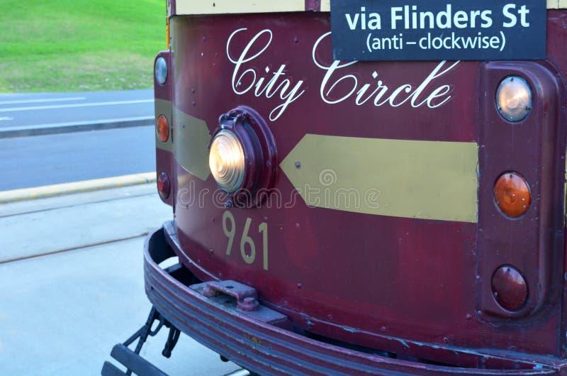 Melbourne-Stadt-Kreis-Tram lizenzfreies stockbild